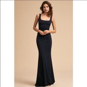BHLDN Size 10 Navy Long Formal Gown Front Slit
